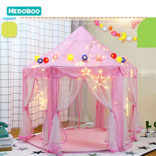 Medoboo Portable Children's Tent Toy Play House Baby Game Tent Play Yurt Kids Indoor Outdoor Beach Tent Toys Princess Castle 30 стоимость