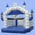 Caliente Inflable Casa Castillo Rebote/4 m por 4 m/Azul y blanco Inflable Castillo Hinchable/Grande área para Rebotar
