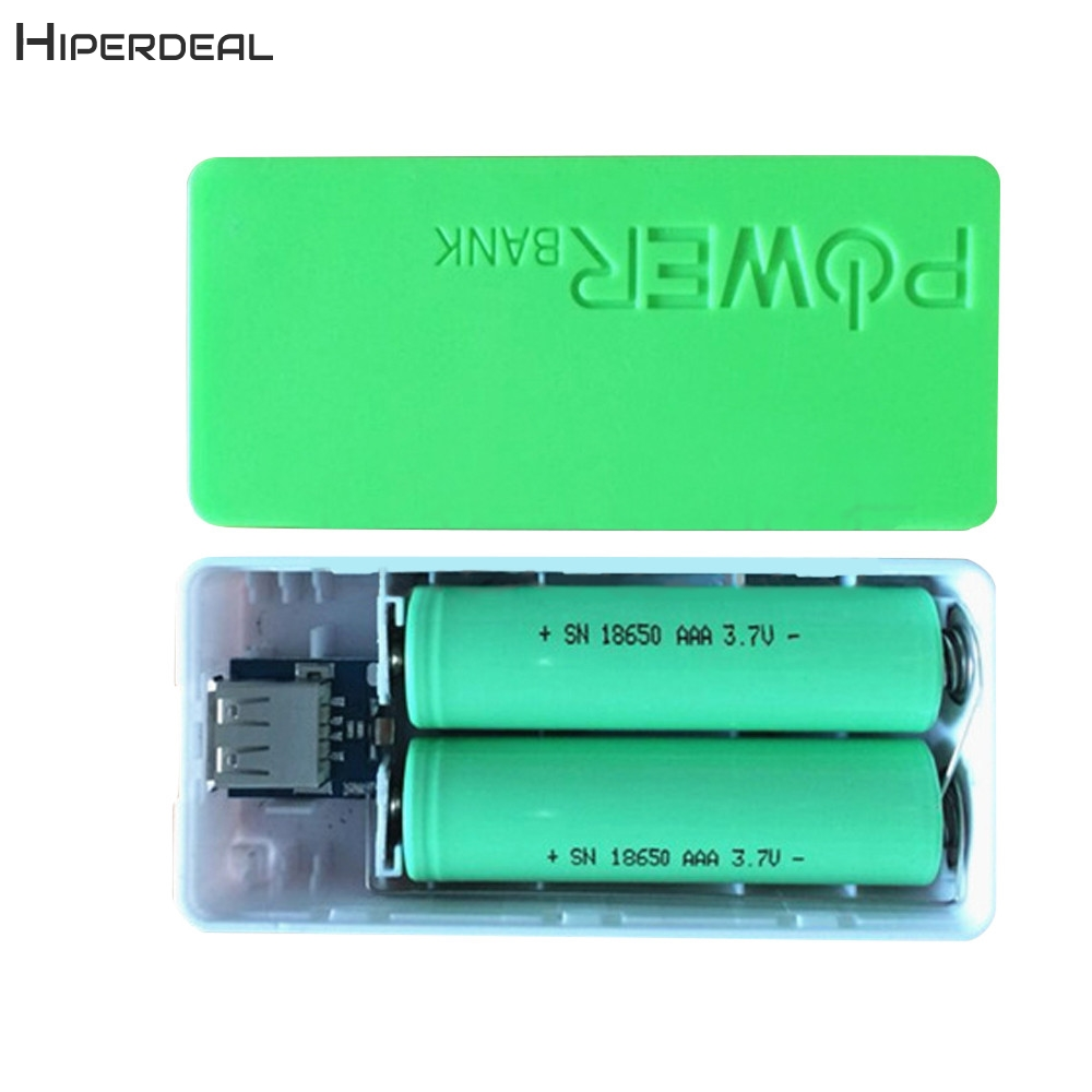 5600mAh 2X 18650 USB Power Bank Battery Charger Case DIY Box For IPhone For Smart Phone MP3 Electronic Mobile Charging QIY25 D3S