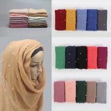 c05630502b9 Nouvelle Arrivée Femmes Foulard Écharpe Musulmane de Haute Qualité Écharpe  Femmes Couverture Tête foulard femme foulard hijab Éc..
