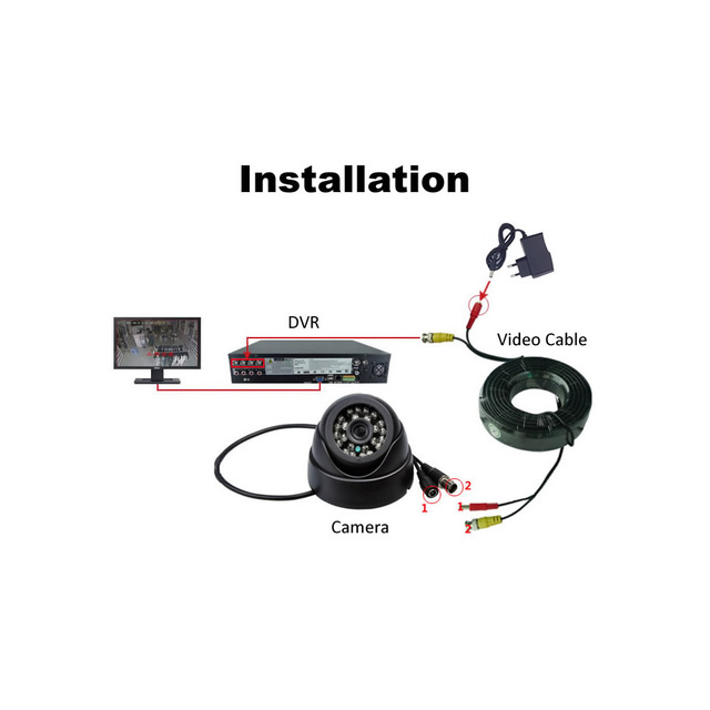 700TVL Serveillance Camera Dome CCTV Security Camera 24pcs IRCUT Leds Night Vision ABS Material Color Image Indoor