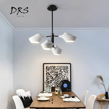 Modern Led Chandelier E27 and Iron Body For Living Room Bedroom Dining Room Chandelier Lamp Lighting Fixture