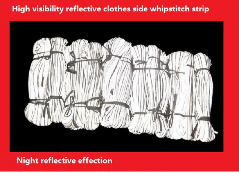 Bright silver clothes side whipstitch reflective strip TC reflective serging reflective packet sideband