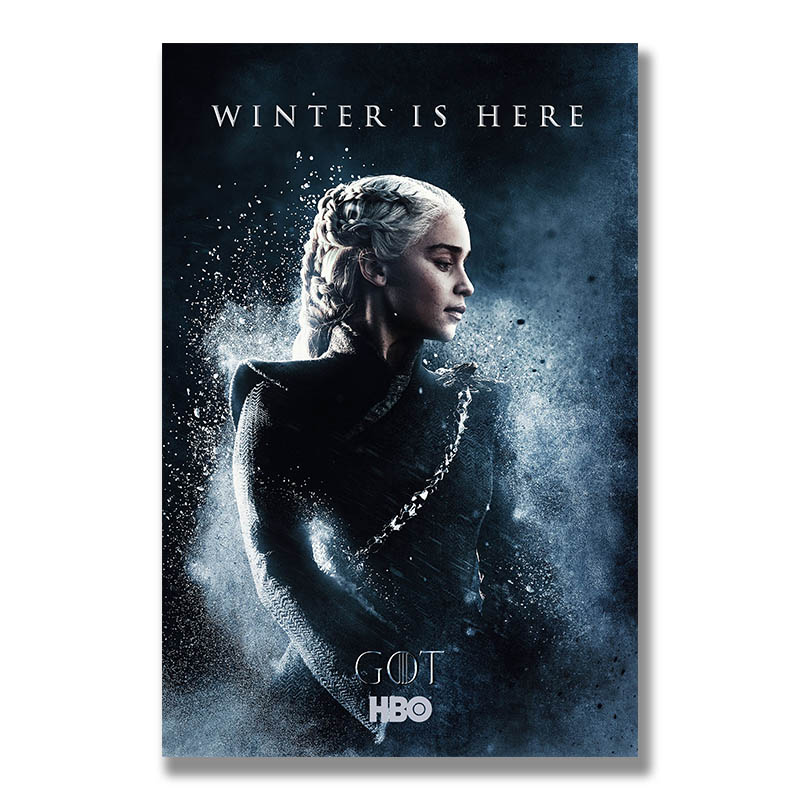 Game Of Thrones 8 Poster Wall Art Canvas Print Painting 30x45 60x90cm Decoration Picture Wallpaper Living Room Decor Daenerys
