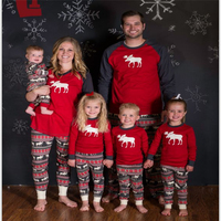 Autumn Family Matching Clothes Family Christmas Pajamas Clothing Sets Father Son Matching Clothes Mother Daughter Elk
