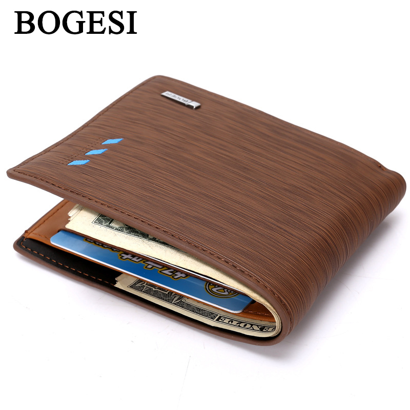 BOGESI Men Wallets Leather Wallet Fashion Male Purse Pocket Man Short  Wallets Card Holder Mens Purse carteira masculina MWS083 69a5d60f42