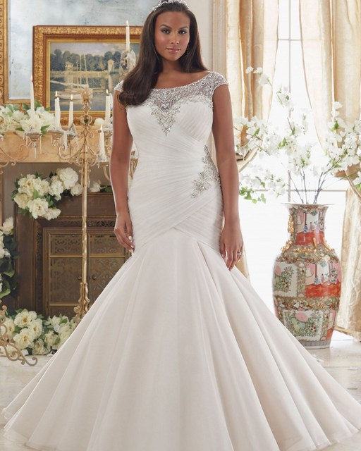 Vestido De Noiva Plus Size Brautkleid Sexy Kristall Afrikanische ...