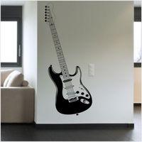 D0095 סטראטוקסטר גיטרה מדבקות ויניל מדבקות קיר סלון חדר שינה מדבקת קיר מוסיקה