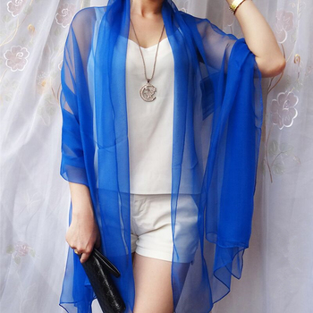 2019 High grade chiffon ultra-thin breathable tourist sunscreen essential boutique Scarf Women foulards shawl