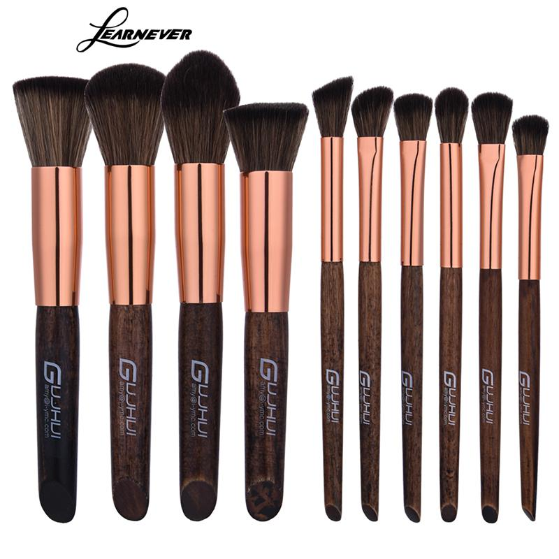 LEARNEVER 10pcs Makeup Brushes Nake Make Up Brush Set Pincel Maquiagem For Beauty Blush Contour Foundation Cosmetics Brushes 24pcs beauty makeup brushes set cosmetics foundation eyeshadow eyeliner lipstick make up blush soft brush bag pincel maquiagem