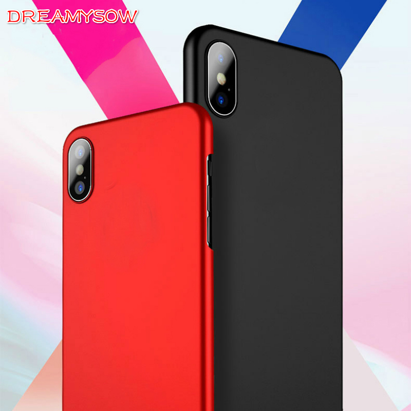 Matte Cover Cases For iPhone 8 Plus X SE II 6 6S 7 Plus 5 5S Hard Plastic Phone Cases For iPod Touch 5/6 Back Protective Bags