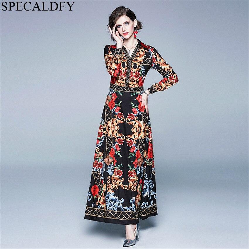Дизайнерское подиумное платье 2019, женское высококачественное модное винтажное платье, роскошное длинное платье рубашка, европейский стиль, женское платье