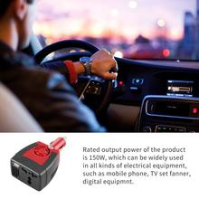 Cigarette Lighter Power Supply 150W 12V DC to 220V AC Car Power Inverter Adapter With USB Charger Port стоимость