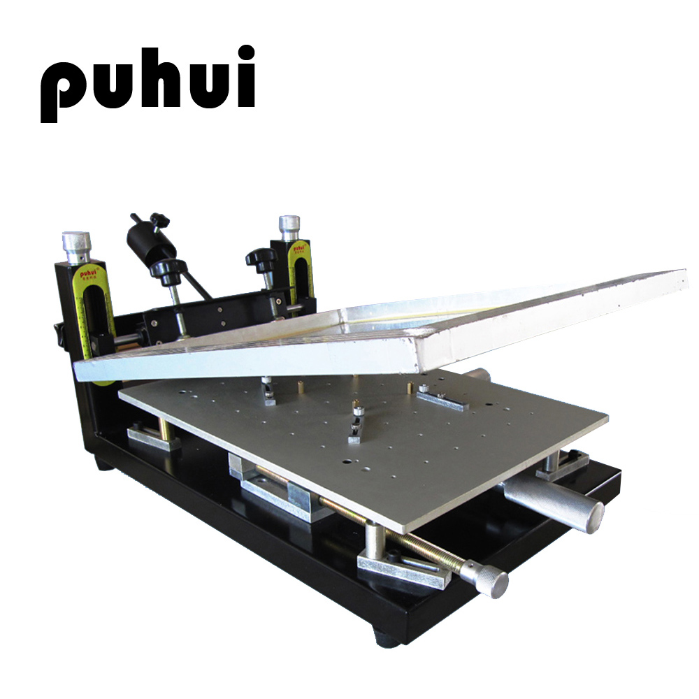 New Arrival PUHUI PH-HPP01 High Precision Solder Paste Printer PCB Board Welding Manual Stencil Printer Silk Printing Machine