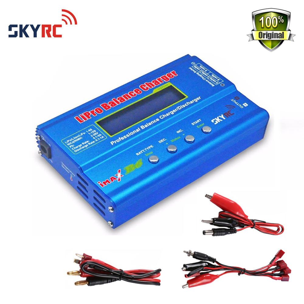 Originl Skyrc Imax B6 Rapid Lipo NiMh Battery Balance Charger/Discharger with power adaptor for RC Helicopter Toys ocday 1set imax b6 lipo nimh li ion ni cd rc battery balance digital charger discharger new sale