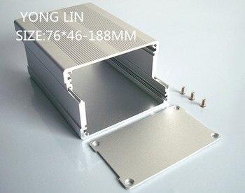 2piece  Diy aluminium box housing or aluminum enclosure for pcb/Aluminum Box76*46-188 168 54 120 200 mm w h l diy electronics aluminum enclosure pcb box matel housing