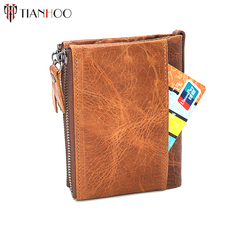 TIANHOO Brand Wallet Men Leather Wallets Purse Short Male Clutch Bags Wallet Holder Mens Money Bag Quality Guarantee