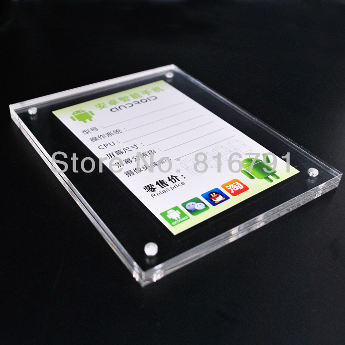 High quality Customized Size Price Tag lables big holder stand for Mobile Phone Camera MP4 tablet store or exhibition display cell mobile phone tablet pc retail store price holder labels stand acrylic poster holders shelf for brand specialty store