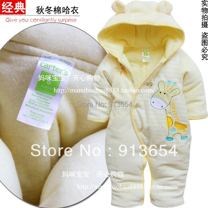 Nouveau 2019 automne hiver bébé vêtements nouveau-né coton barboteuse bébé garçon/fille mignon animal combinaison