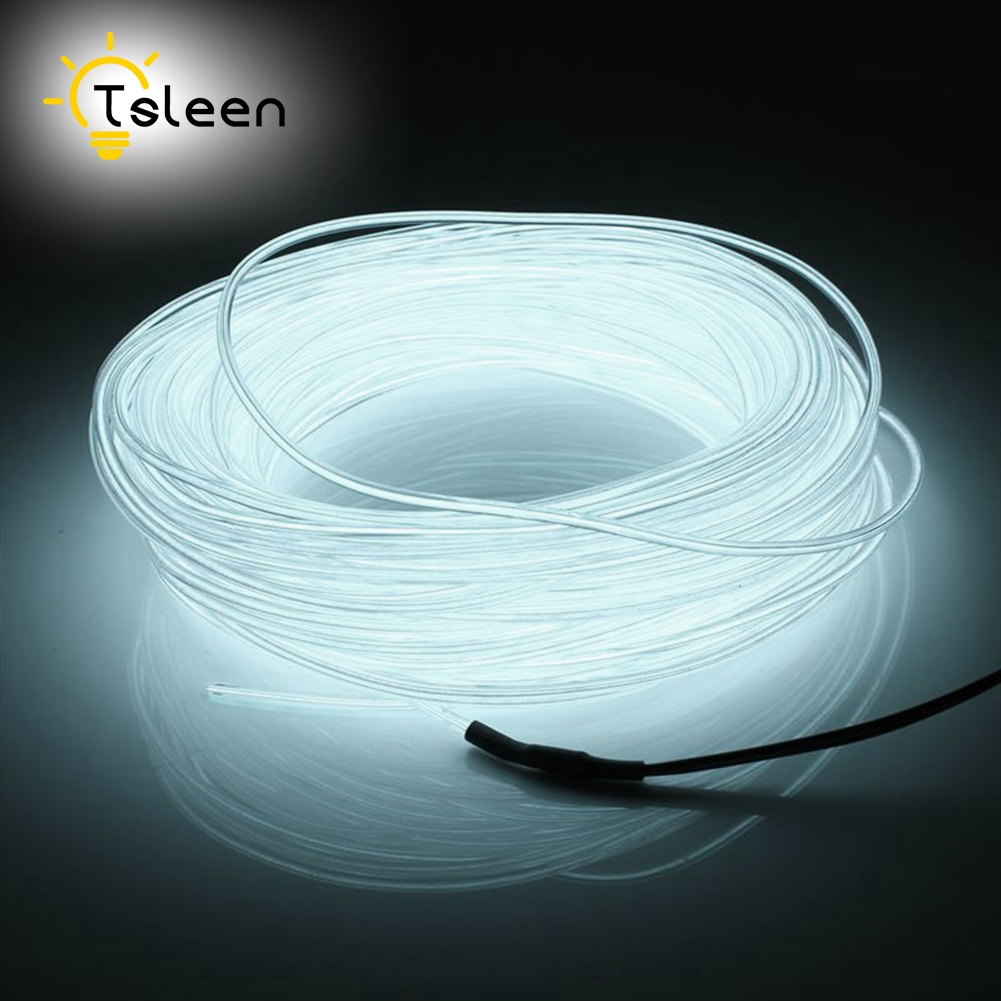 Barato Led Strip EL Wire 2 3 5M Batería de colores 3V Flexible EL Wire Neon LED Lámpara portátil Lámpara decorativa Sring Line