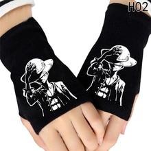 One Piece Luffy Skull Knit Gloves