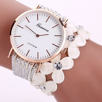 Elegant Flowers Bracelet Ladies Watch