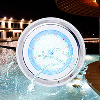 Underwater Incandescent Pool Light with Stainless Steel Face Ring Garden Swimming Pool Party Home Decor AC12V RGB Par56 18W 24W