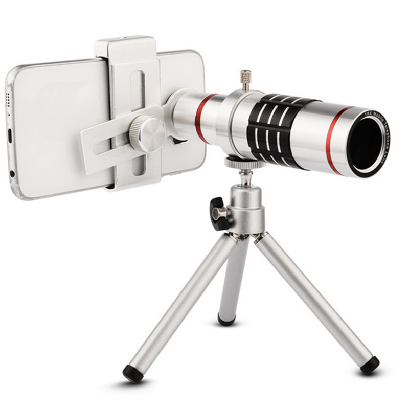 ET 18x Zoom Cellphone Optical Telescope Lens Kit with Tripod Universal Camera Lenses for iPhone X 6 6s 7 8 Plus Samsung Huawei
