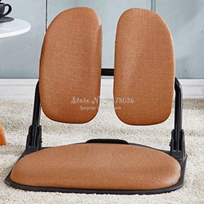 Folding Tatami Ergonomic Comfort Legless Floor Zaisu Chair Compact Seat Living Room Furniture Relax Leisure Foldable Chair