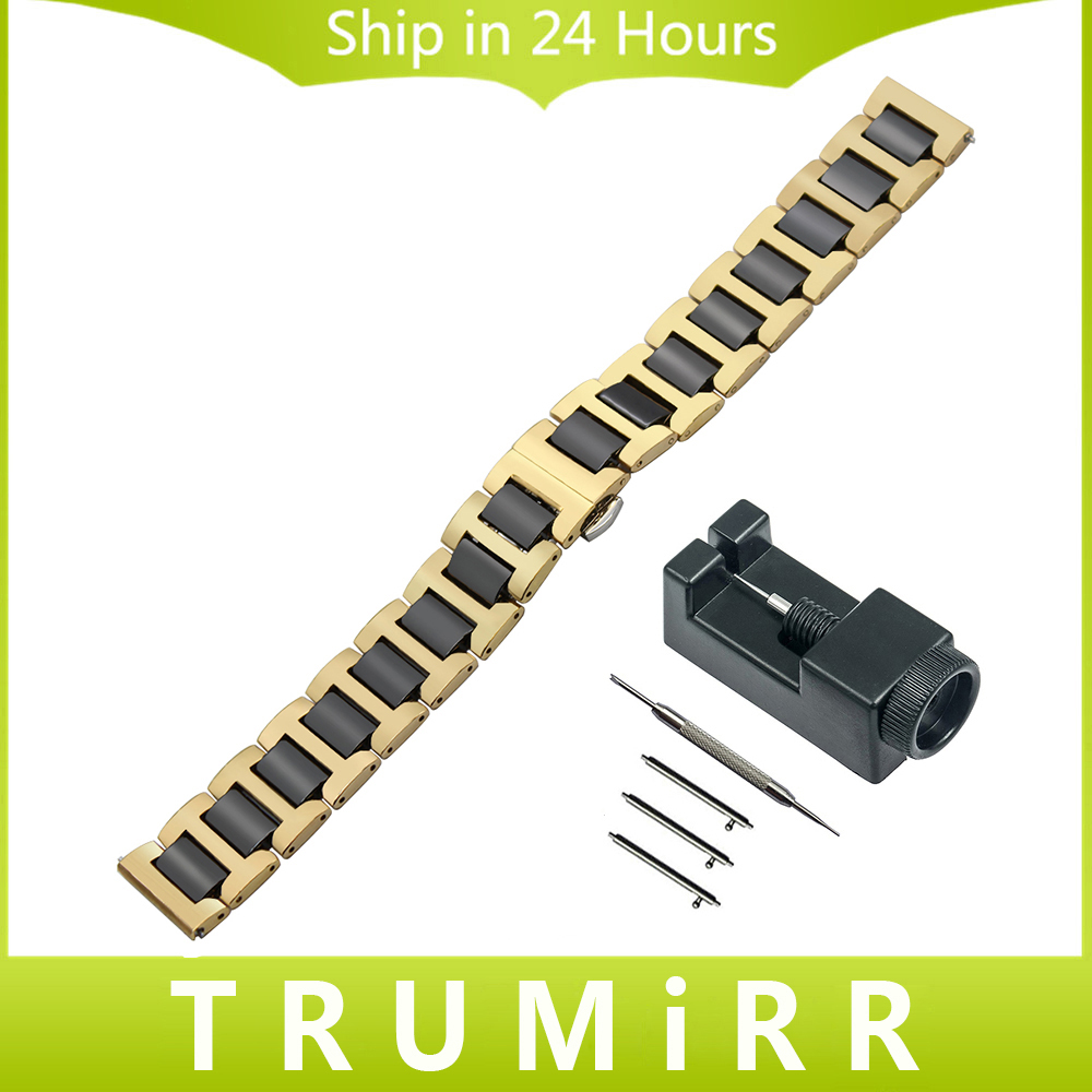 Ceramic + Stainless Steel Watchband Quick Release Strap for Rado Diamaster Centrix Watch Band Wrist Bracelet 12 14 16 18 20 22mm ceramic stainless steel watch band 14 16 18 20 22mm for orient butterfly buckle strap quick release wrist belt bracelet tool