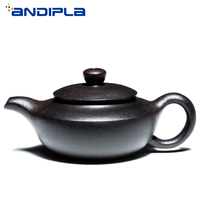 180cc Authentic Yixing Teapot Master All Handmade Han Bian Pot Tea Maker Pot Chinese Health Purple Clay Vintage Kung Fu Tea Set