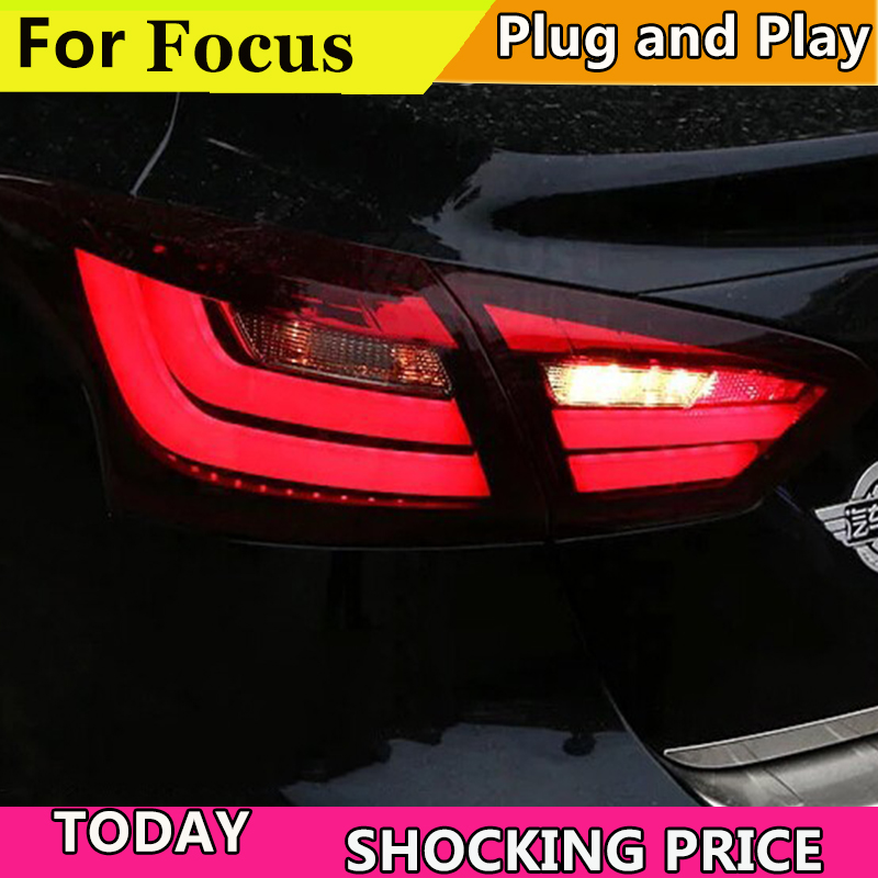 doxa Car Styling 2012 2013 2014 taillights For Ford focus 3 LED rear lights For Ford