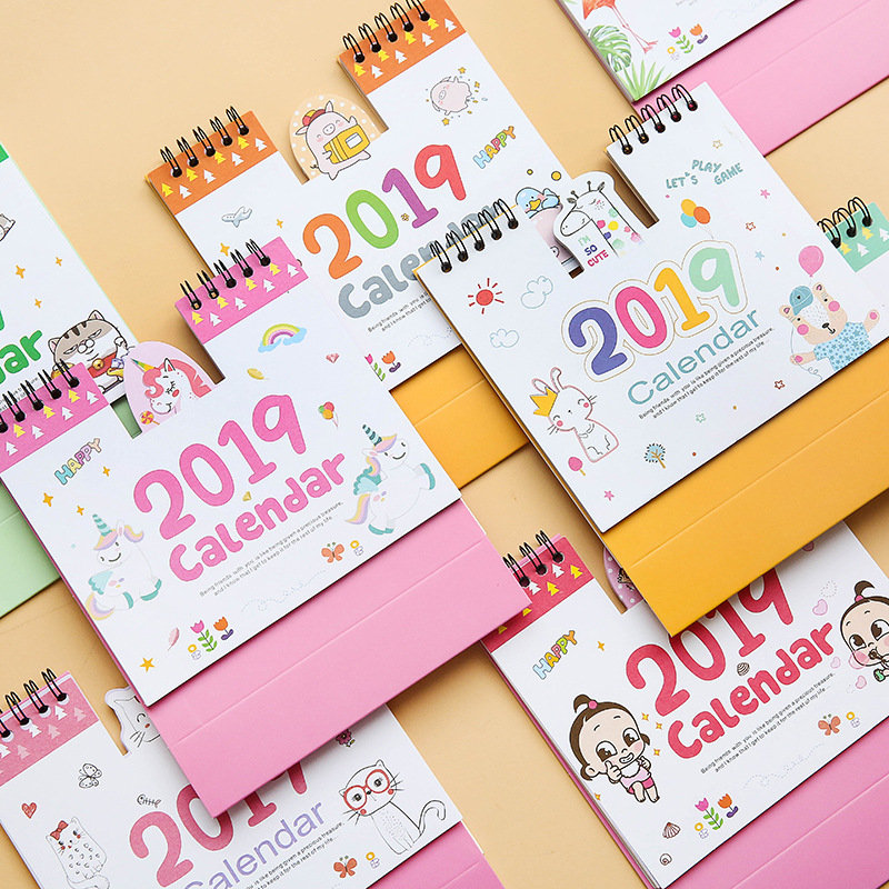 Calendar Apprehensive Coloffice 2019 New Year Animal Cartoon Cute Desk Calendar Table Planner Calendar Gifts For Students Office&school Supplies 1pc