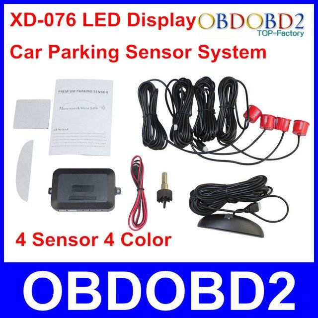 Good Function Car Parking Sensor With LED Reverse Parking Radar System 4 Sensor and 4 Color Black/White/Silver/Red