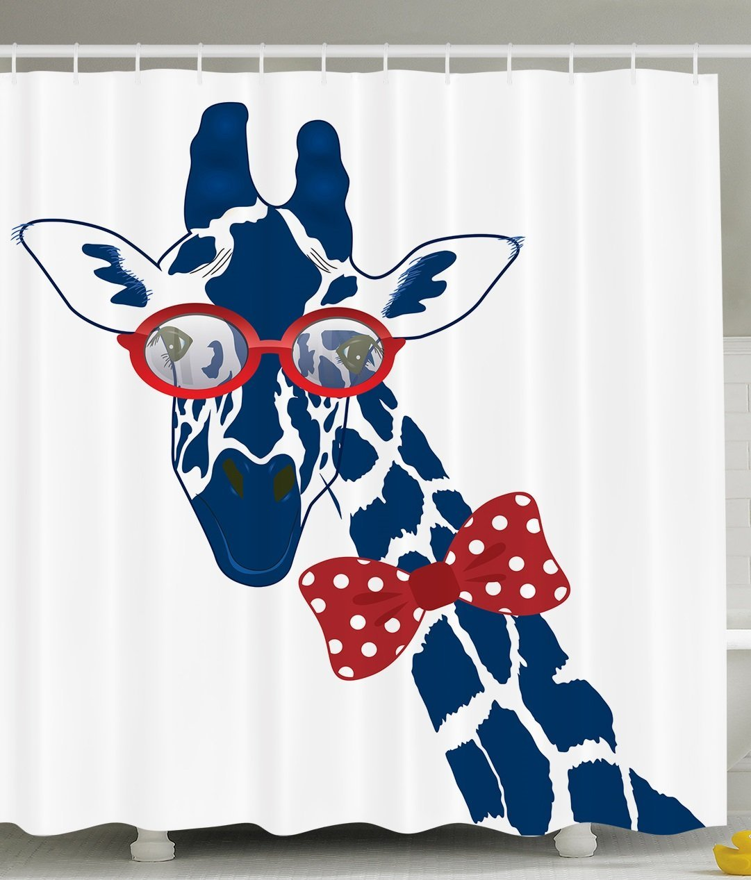 Warm Tour Funny Giraffe Hipster Sunglasses Bowtie Fashion Shower