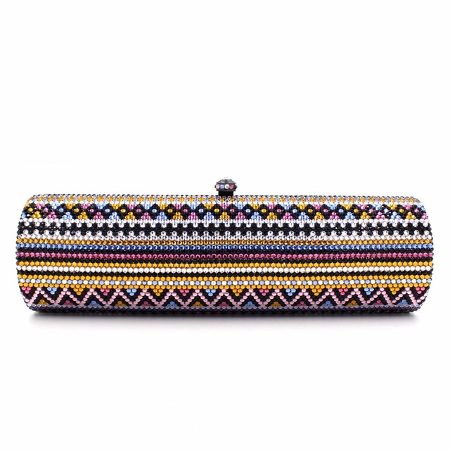 2017 new vintage women day clutches luxury full diamonds drill party dinner bag ladies single shoulder handbag handbags purses