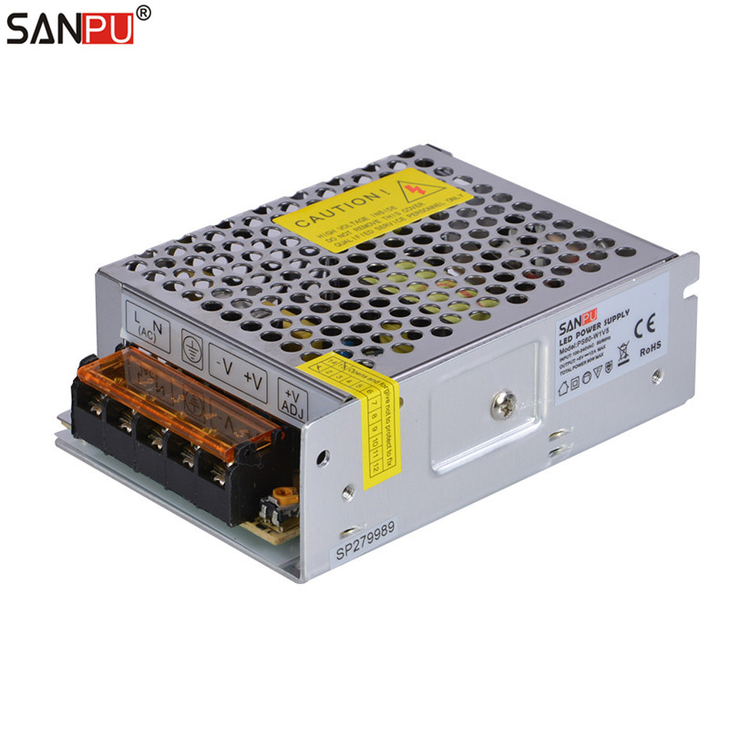 SANPU SMPS <font><b>5V</b></font> <font><b>60W</b></font> LED Driver 12A Constant Voltage Switching Power Supply for LEDs Display 110V 220V AC to DC Light Transformer image