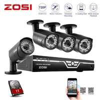 ZOSI CCTV camera System 8CH 720P AHD Security Camera DVR Kit CCTV Waterproof Outdoor Home Video Surveillance System HDD