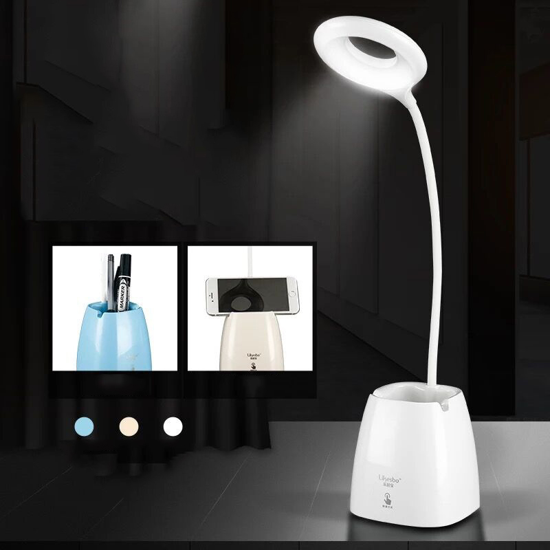LED table lamp USB dimmable charging desk lamp three brightness touch control to protect the eyes for reading learningLED table lamp USB dimmable charging desk lamp three brightness touch control to protect the eyes for reading learning