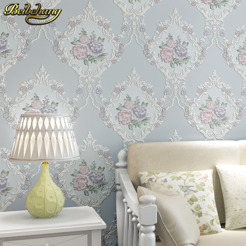 beibehang garden flowers papel de parede 3d flooring Wall Paper Wallpaper Roll For living room Wall covering Decor palace behang beibehang warm pastoral flowers modern 3d flooring wallpaper roll papel de parede photo for wall paper mural living room bedroom