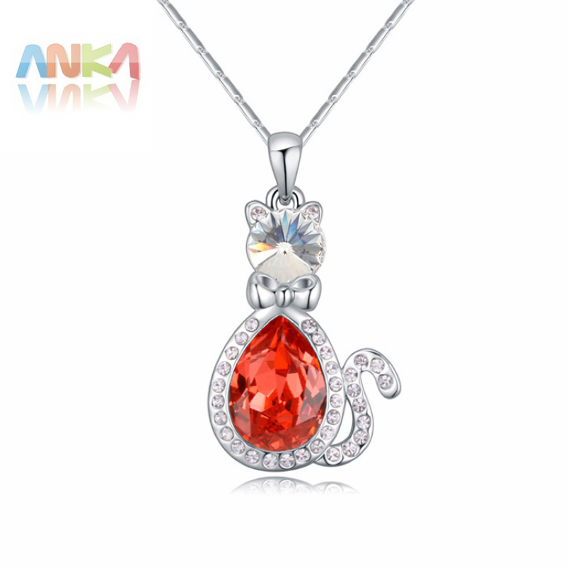 2017 Factory Direct Jewelry Wholesale Korean Fashion Boutique Charm For Cat Necklace Crystals
