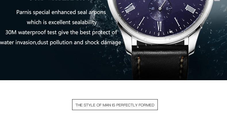 HTB1DazeMhTpK1RjSZFKq6y2wXXaA 2019 Luxury Man Parnis Power Reserve Automatic Watch Mechanical Self Winding Men Watches mekanik kol saati relogio automatico
