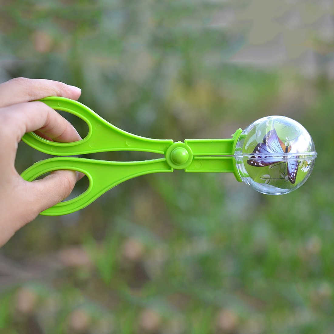 1pc plastikowe Bug łapacz owadów nożyczki szczypce pincety dla dzieci zabawka dla dzieci poręczne narzędzie