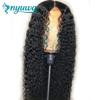 Pre Plucked Full Lace Human Hair Wigs Curly Glueless Brazilian Full Lace Wigs With Baby Hair Bleached knots NYUWA Remy Hair