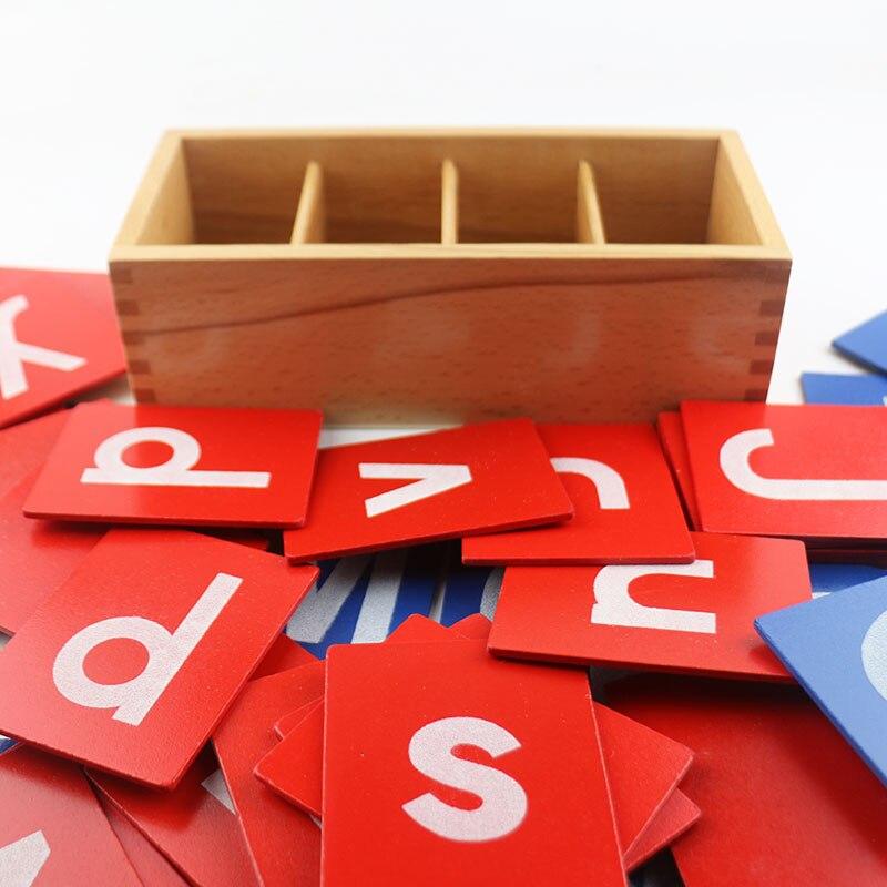Montessori matériaux sensoriel papier de sable lettre carte Montessori jouet éducatif 3 ans jouets en bois pour enfants UC1766H