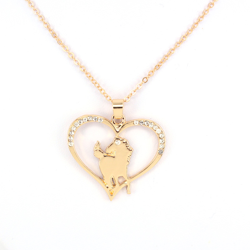 hzew running horse pendant necklace cute horse necklaces gift in Chain Necklaces from Jewelry Accessories