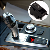 Wooeight 61319148508 Handbrake Parking Brake Control Switch Auto Hold Push Button Fit For BMW X5 X6 E70 E71