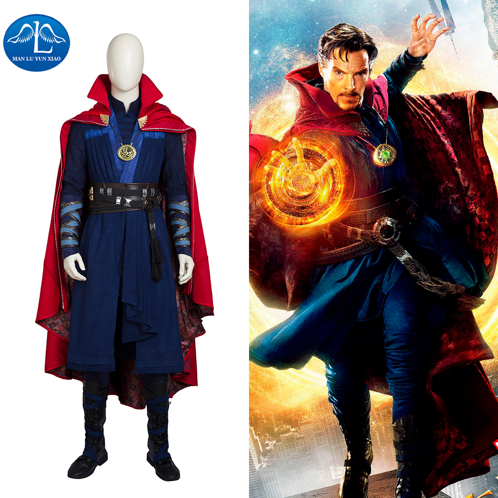 MANLUYUNXIAO Men Doctor Strange Costume Stephen Vincent Strange Cosplay Costume Men Full Set Halloween Cosplay Costume For Men