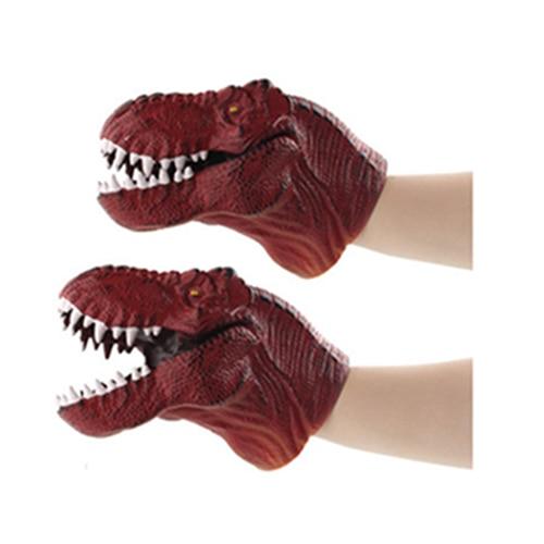 Jurassic Wild Life Funny toys Dinosaur Toy Set Plastic Play Toys World Park Hand puppet model dinosaur gloves in Gags Practical Jokes from Toys Hobbies