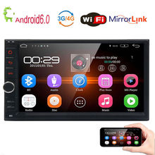 4-Core 7″ Android 6.0 Double 2DIN Car Radio Stereo GPS NO-DVD OBD2 Bluetooth